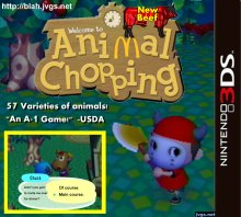 Animal Chopping: New Beef - Animal Crossing parody game